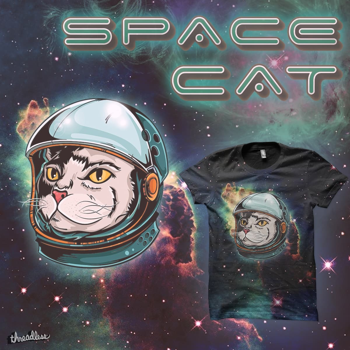 Space cat by Tompe on Threadless