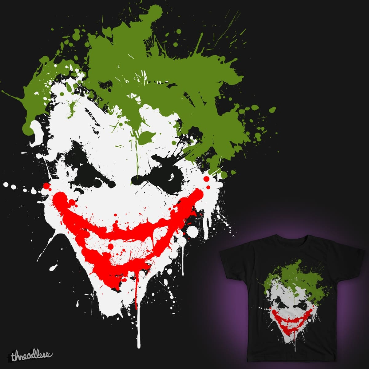 Joker Splatter by Chimaera Wear on Threadless