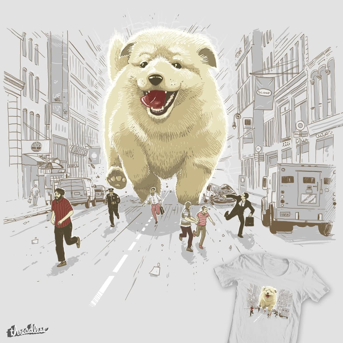 Attack of the cutest monster by Oktomanuba on Threadless