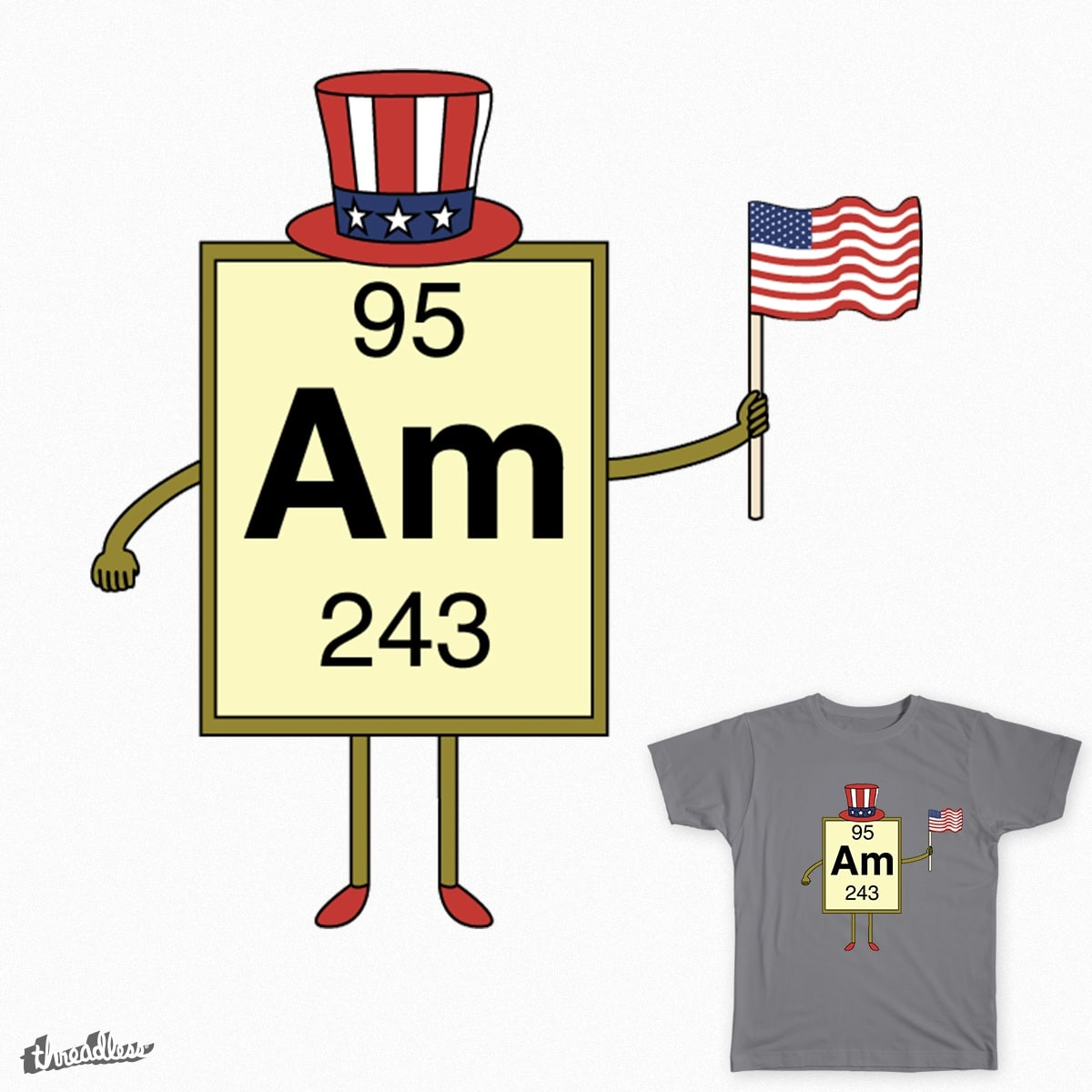 Americium Chemistry Joke by ZacUrquhart on Threadless