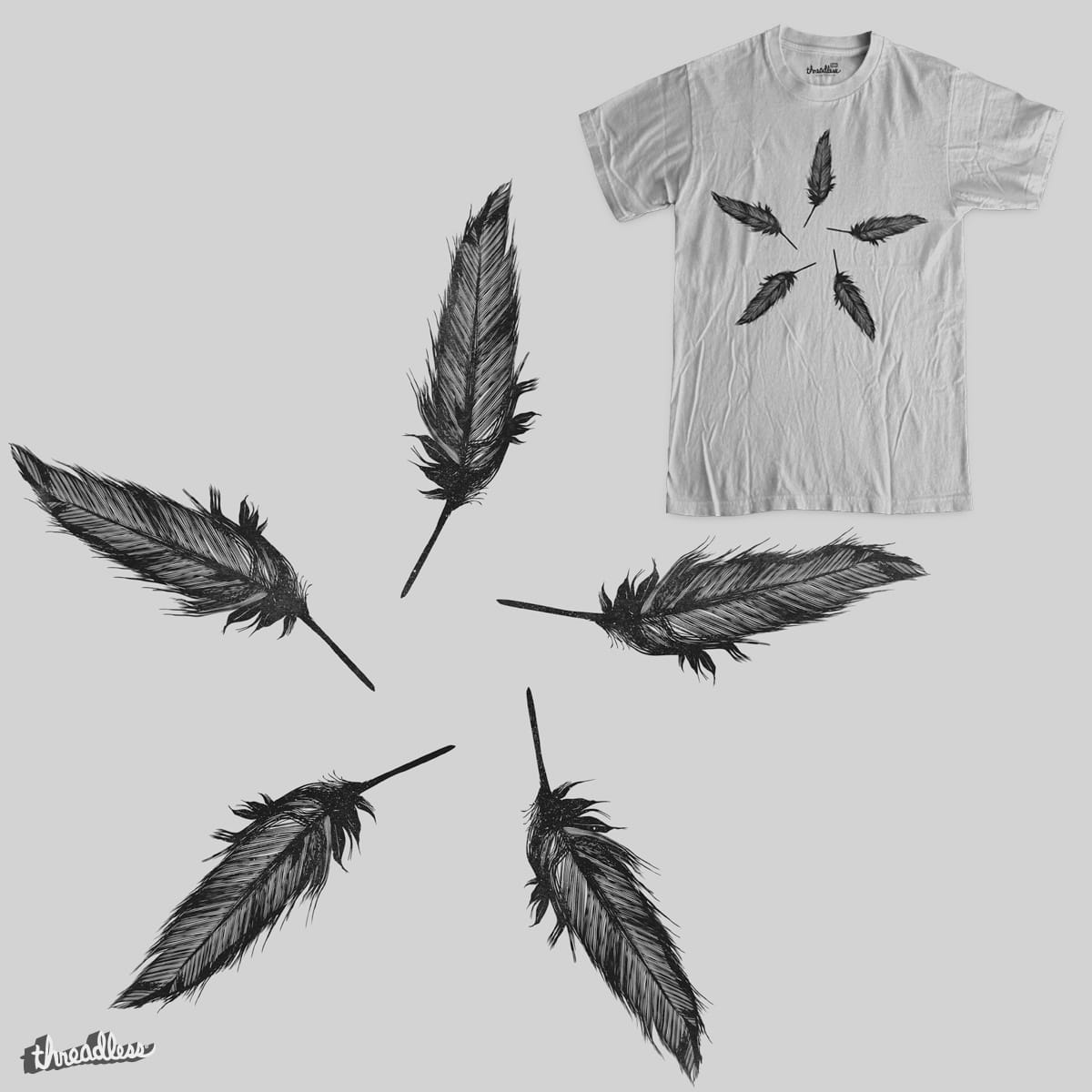 Feather Wheel  by RL76 on Threadless