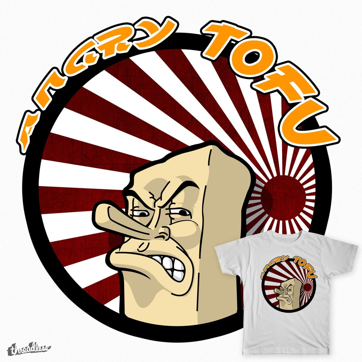 Angry Tofu by BanneretDesign on Threadless