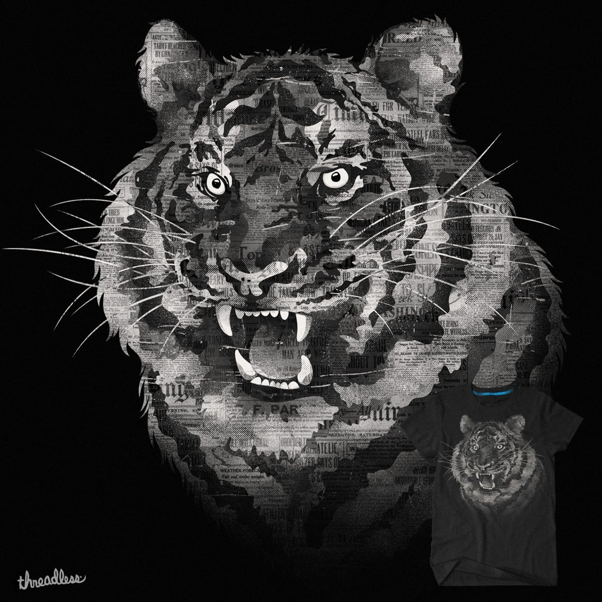 The Paper Tiger by mockart on Threadless