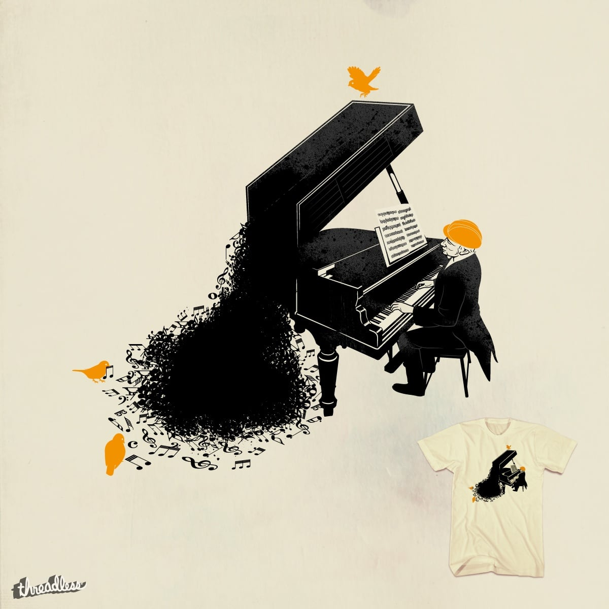 piano operator by anivini on Threadless