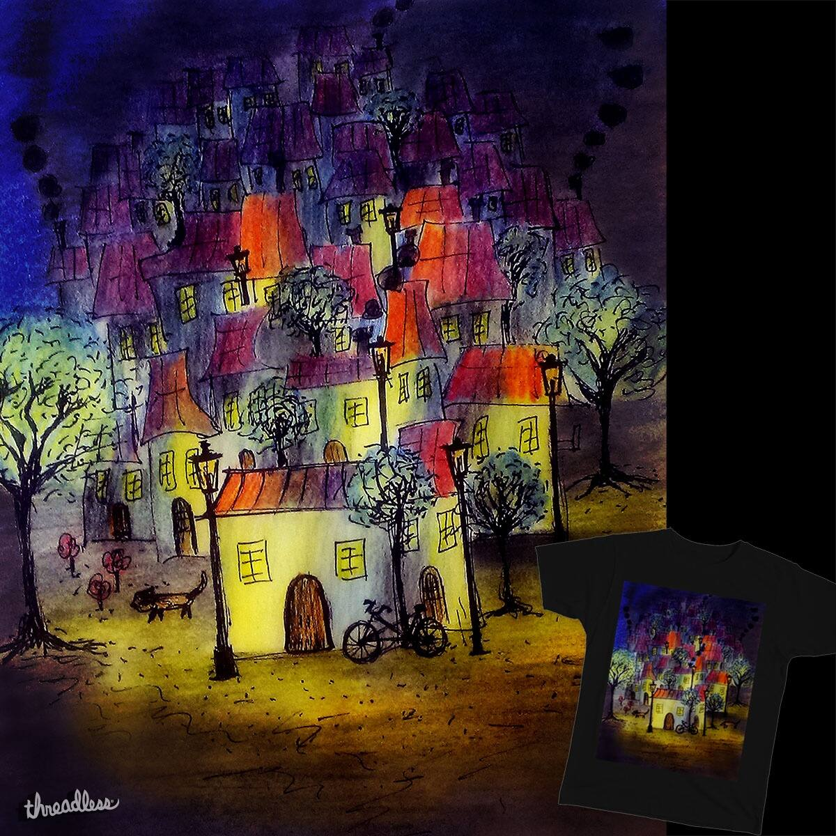 Night At The Village by SerahSiew on Threadless