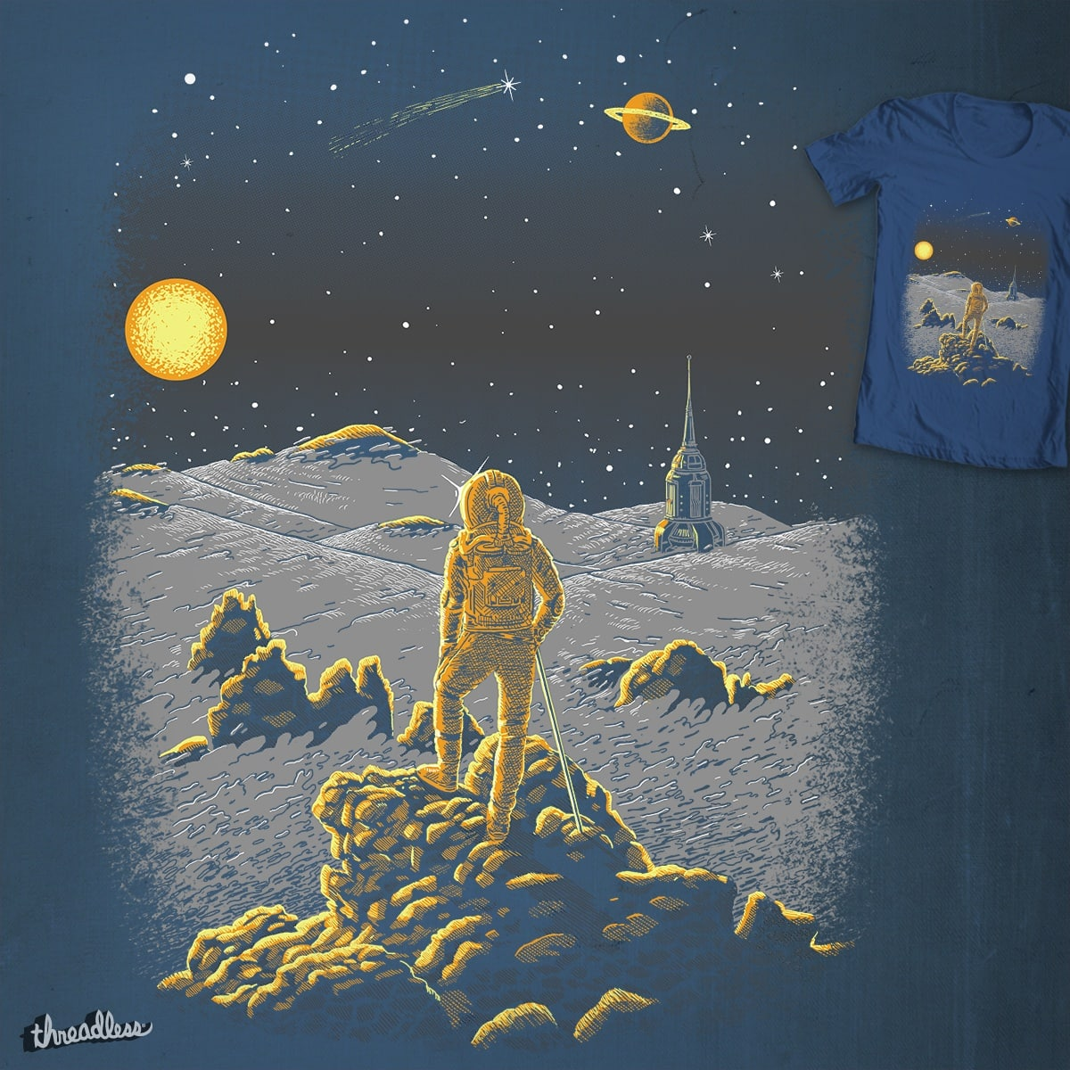 Space wanderer above the Sea of Fog by c-royal on Threadless