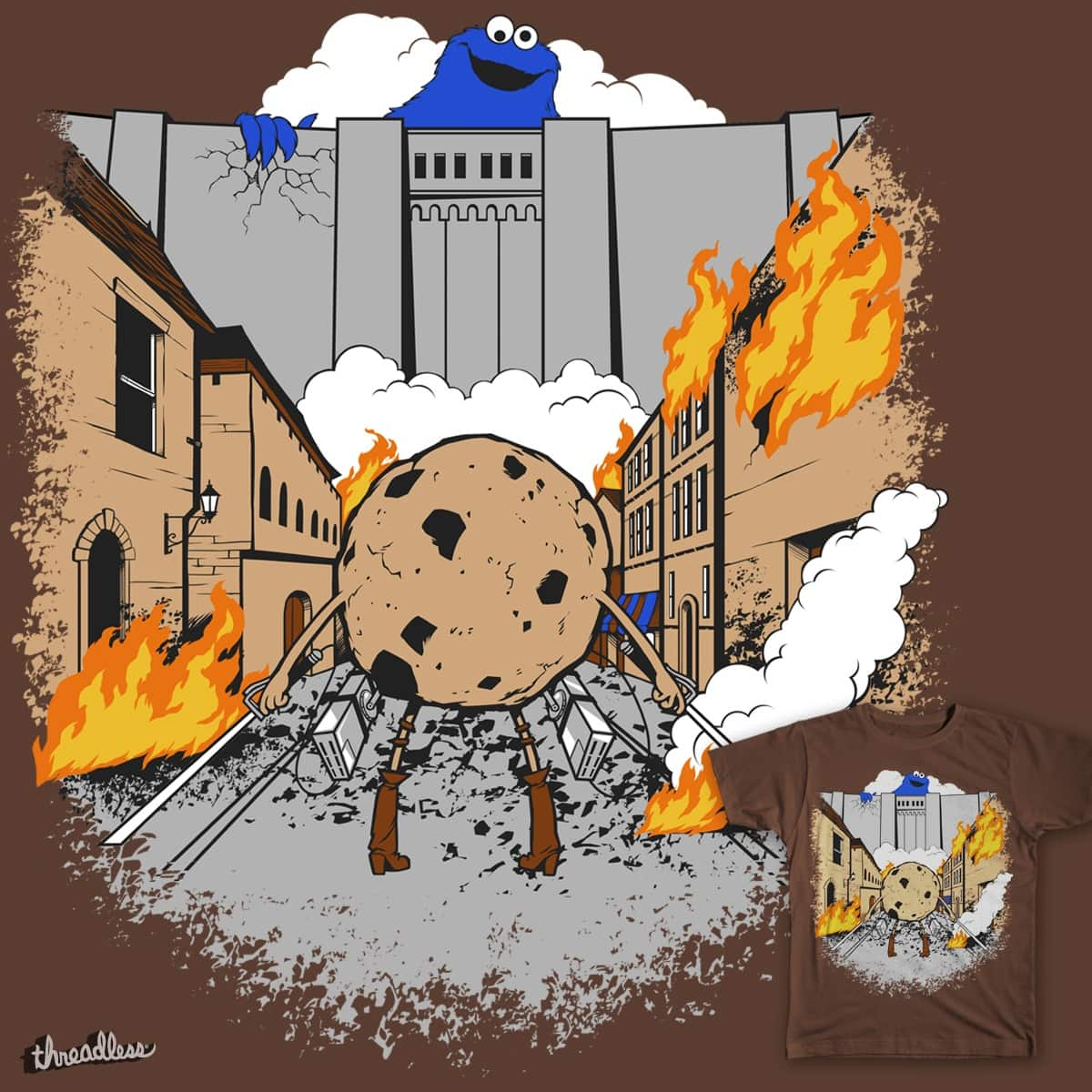 Attack on Cookie by Chimaera Wear on Threadless