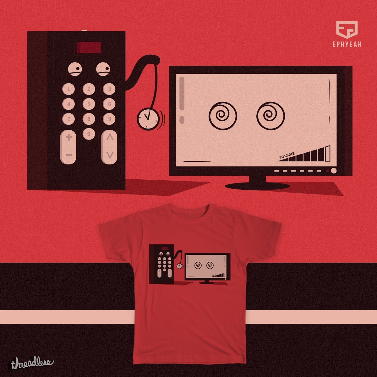 How TV Remote Works by Ephyeah on Threadless