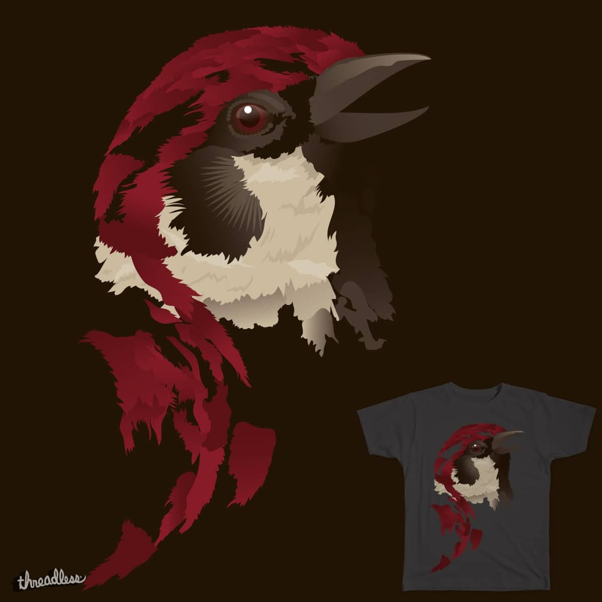 Sparrow by HedonCloth on Threadless