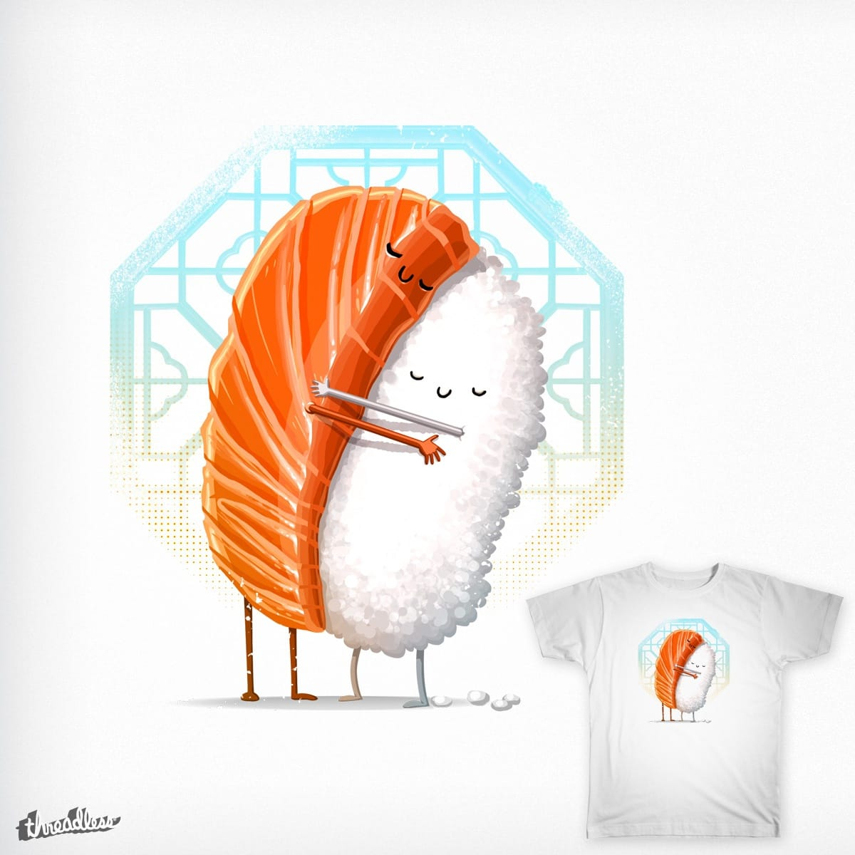 Sushi Hug by andrefmuller and tihmoller on Threadless