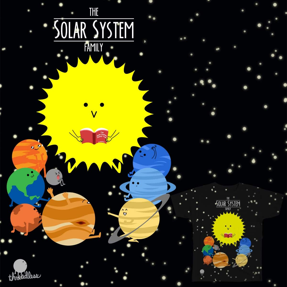 The Solar System Family by andoyman on Threadless