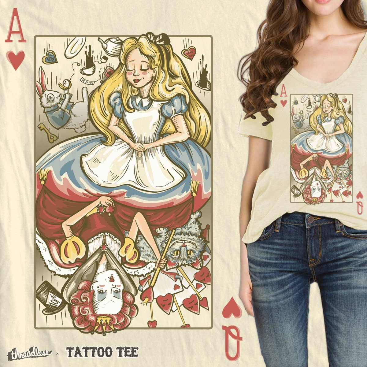 Alice & the Queen by Kellabell9 on Threadless