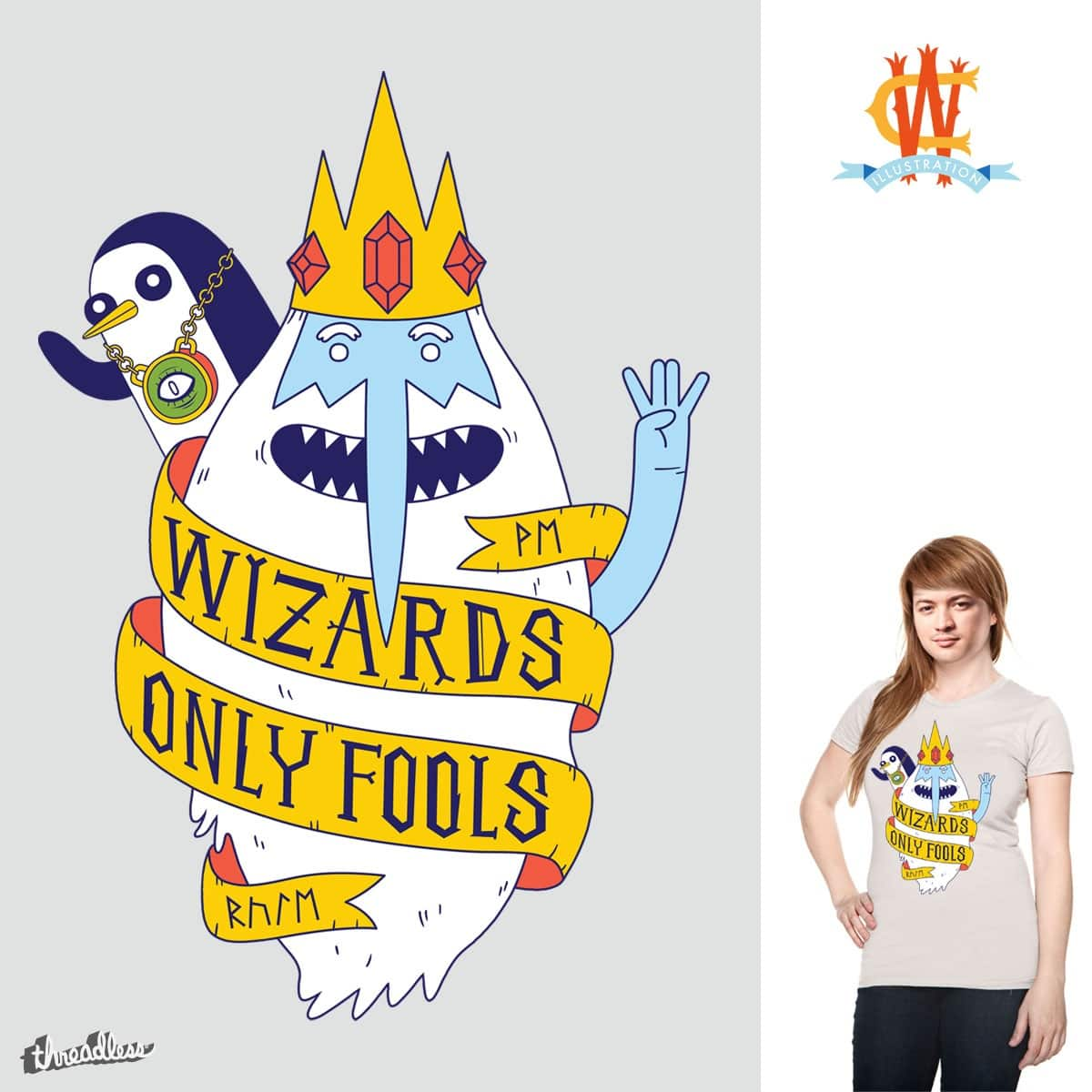 Wizards Only Fools by Wharton on Threadless