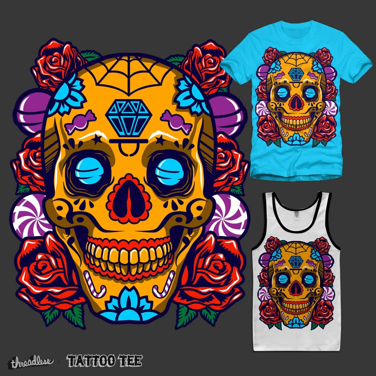 SkullCandy by lumad on Threadless
