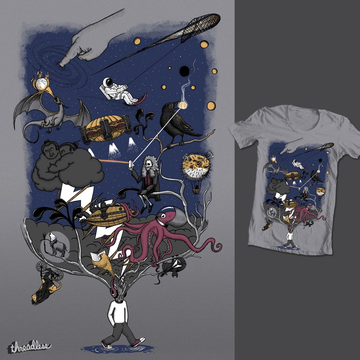 The music and my world by sachpica on Threadless