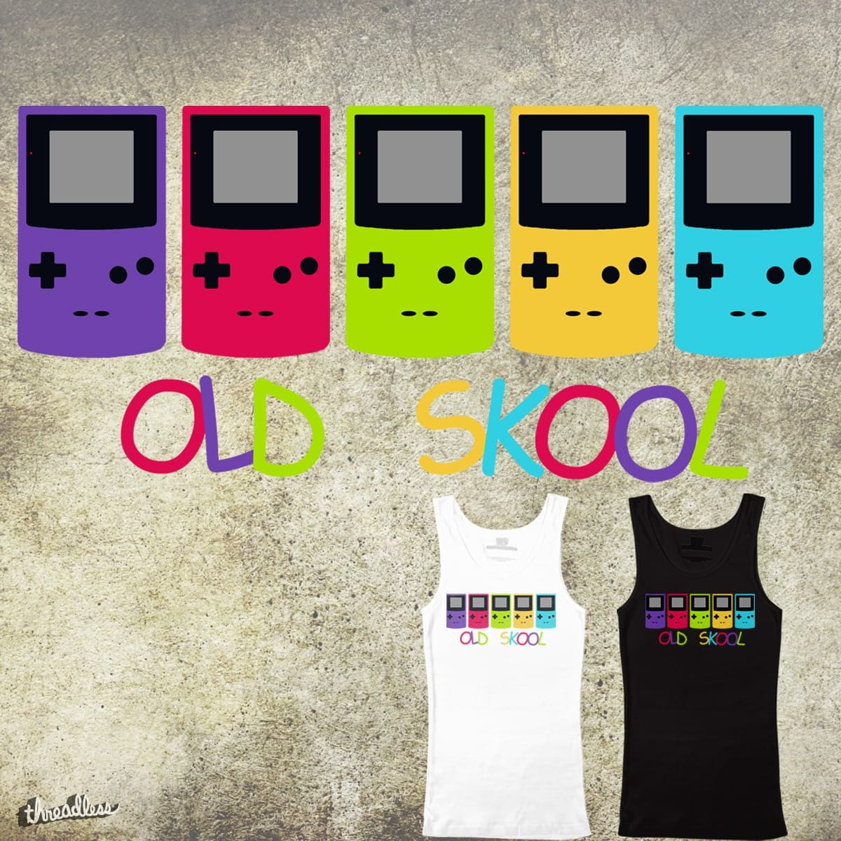 Old Skool Gamer by GeorgeSwift on Threadless