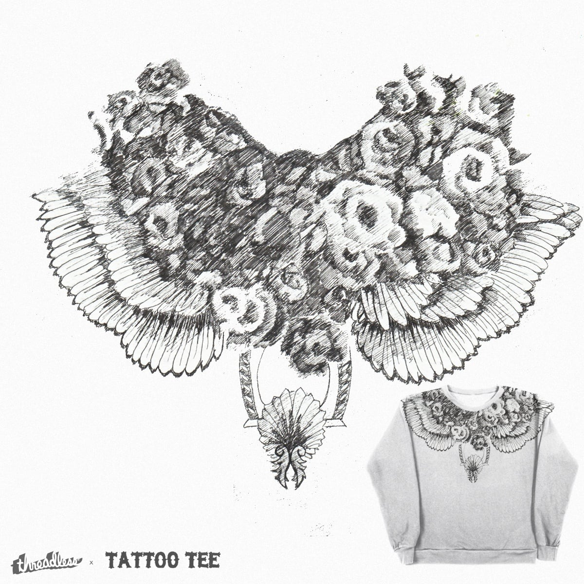 Wings&Roses by Marcos1987 on Threadless