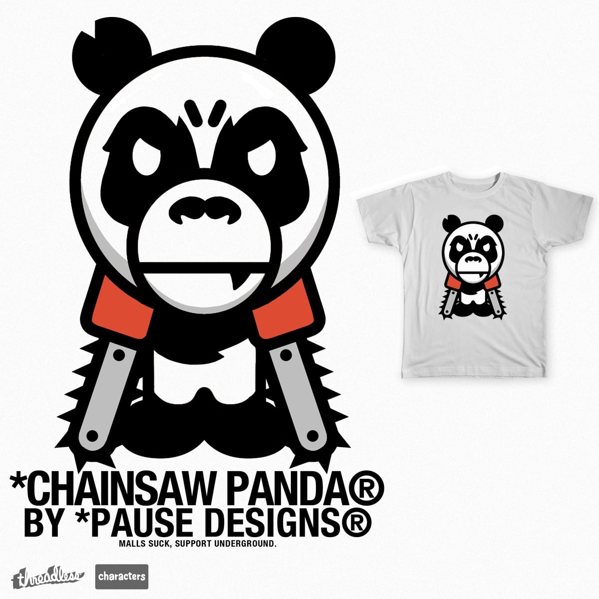 Chainsaw Panda by P4U53 on Threadless