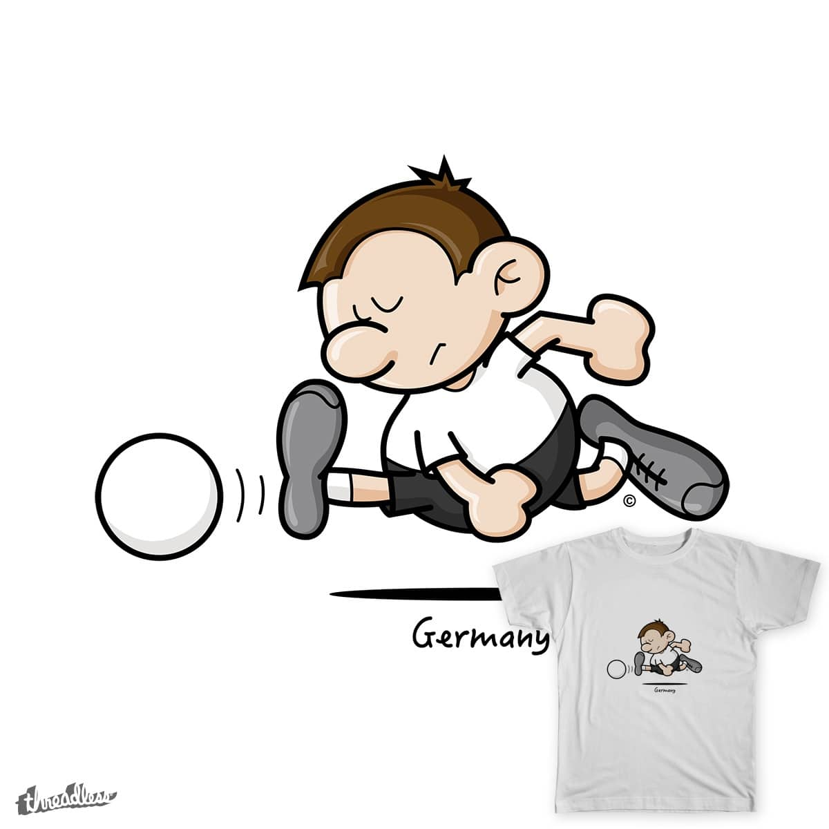2014 World Cup Cartoons - Germany by spaghettiarts on Threadless