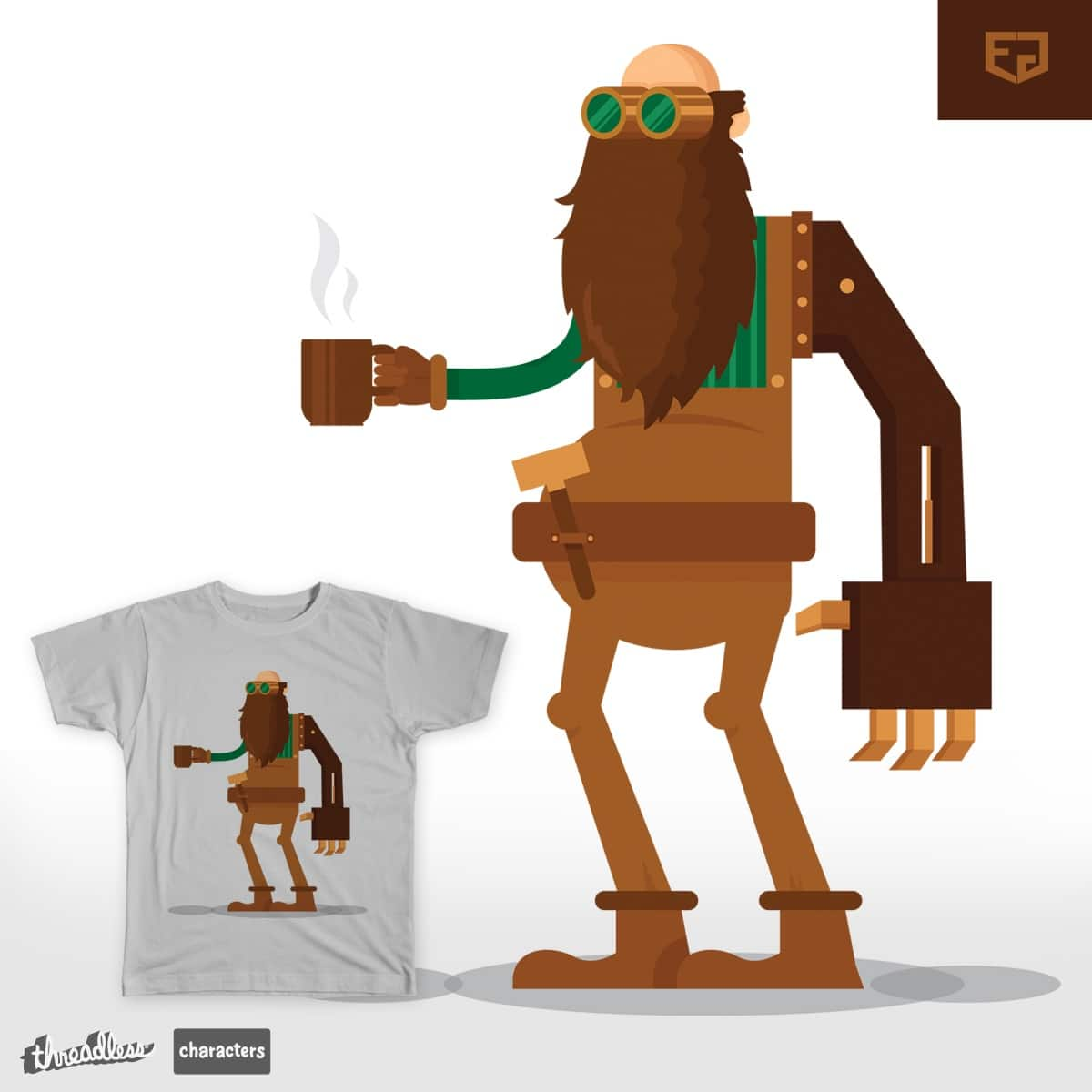 Coffee with Mr. Beardmore by Ephyeah on Threadless