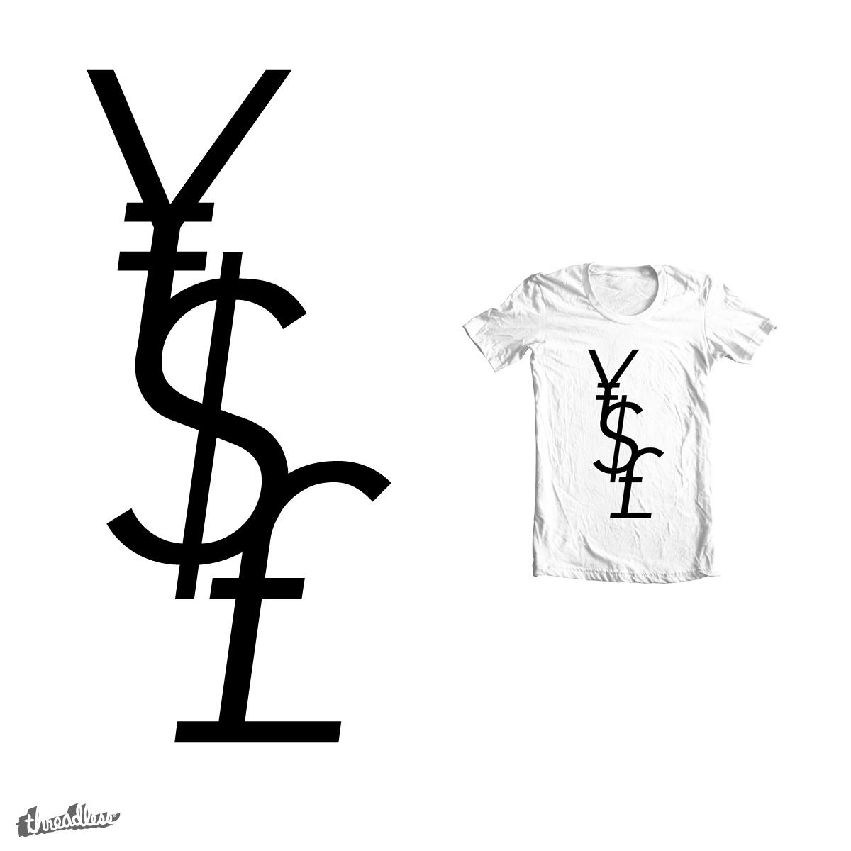 Yen Dollar Pound by Haasbroek on Threadless