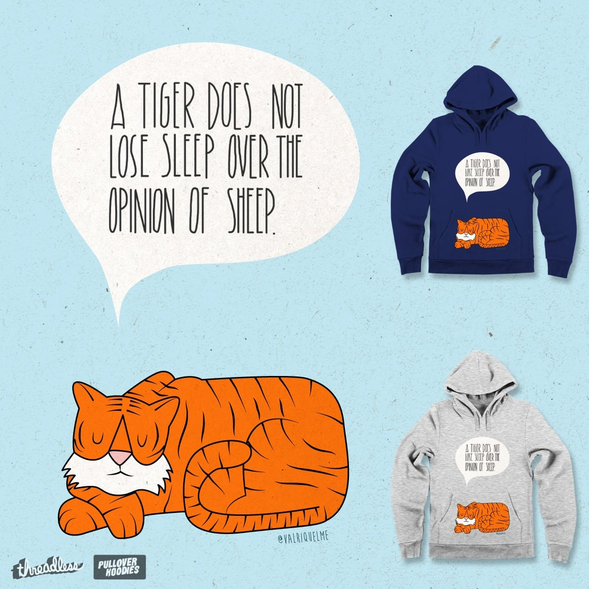 Tiger & Sheep by valriquelme on Threadless