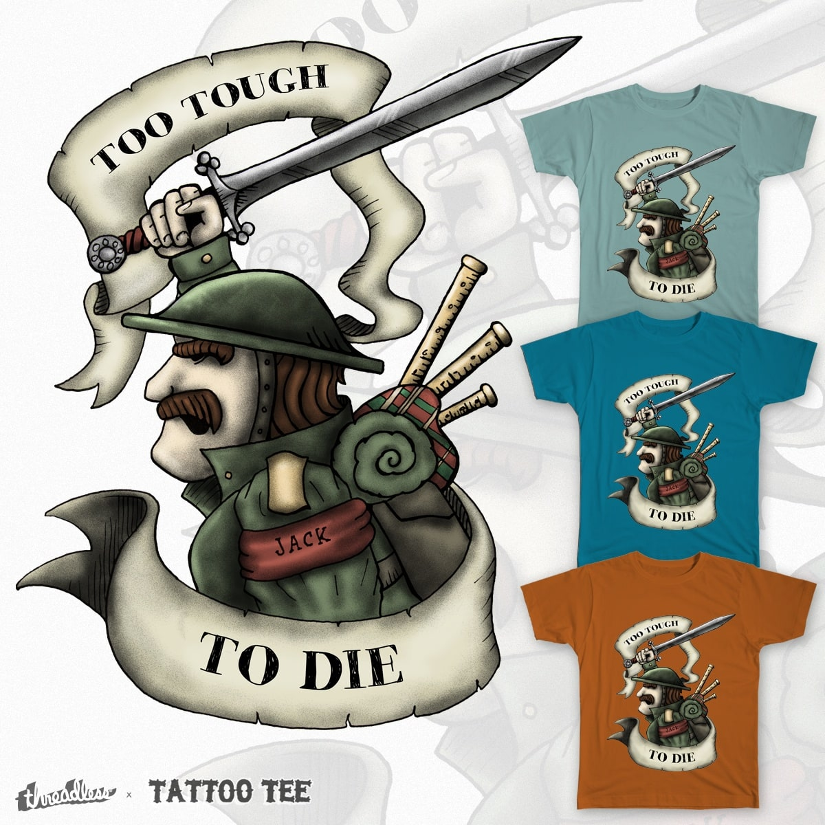 Too Tough to Die by PatrikE on Threadless