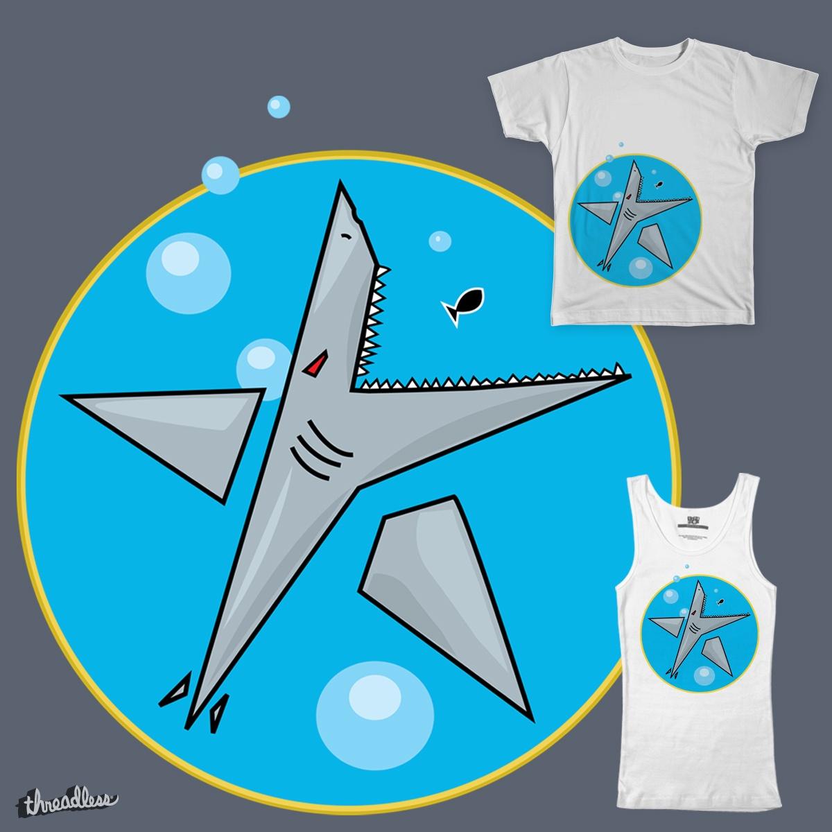 Shark Attack! by nE0n1nja on Threadless