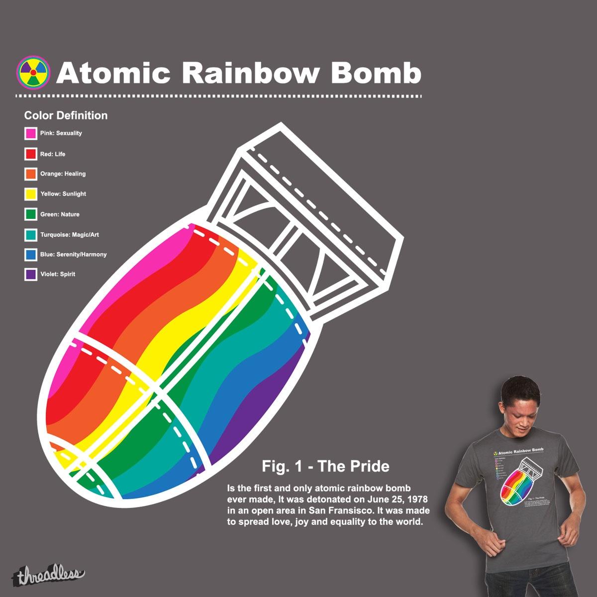 Atomic Rainbow Bomb by krisren28 on Threadless
