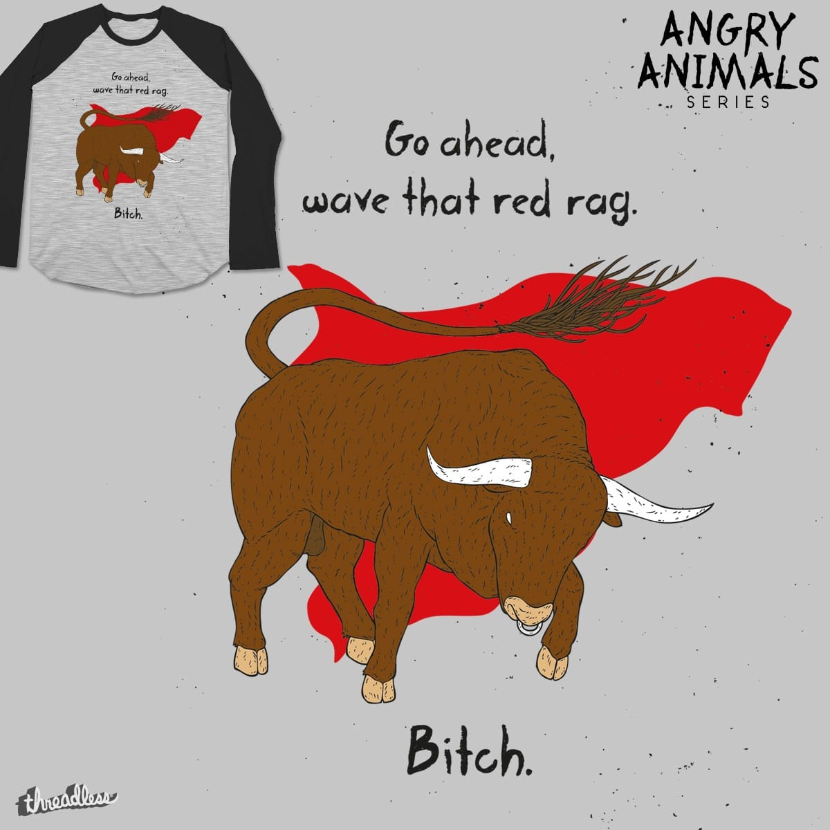 The Angry Bull by hervegraph on Threadless