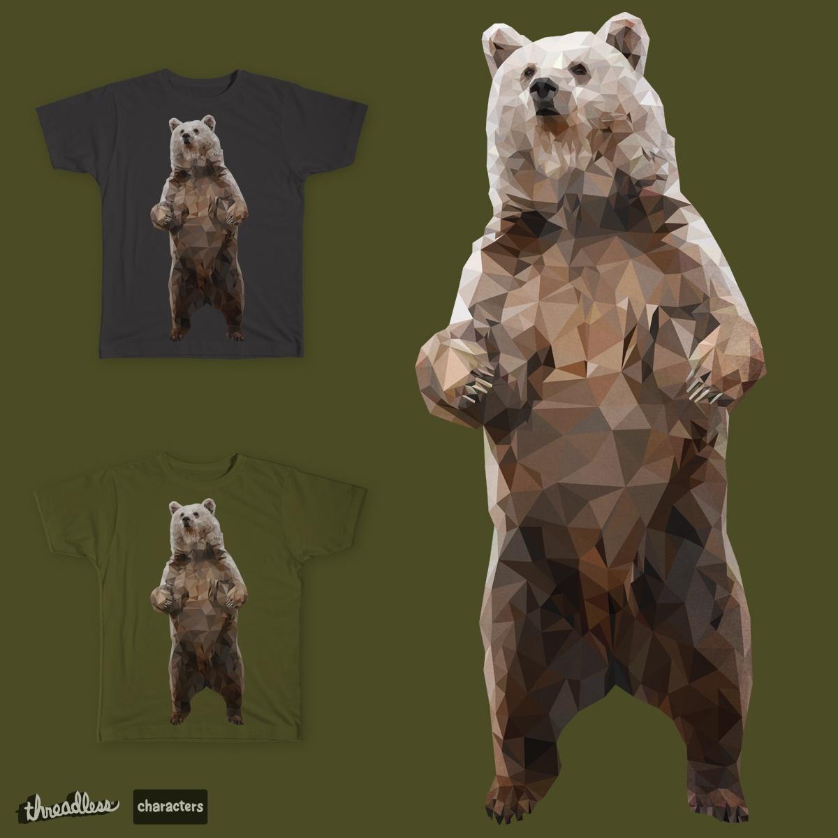 Geometric Bear by evadesignny on Threadless