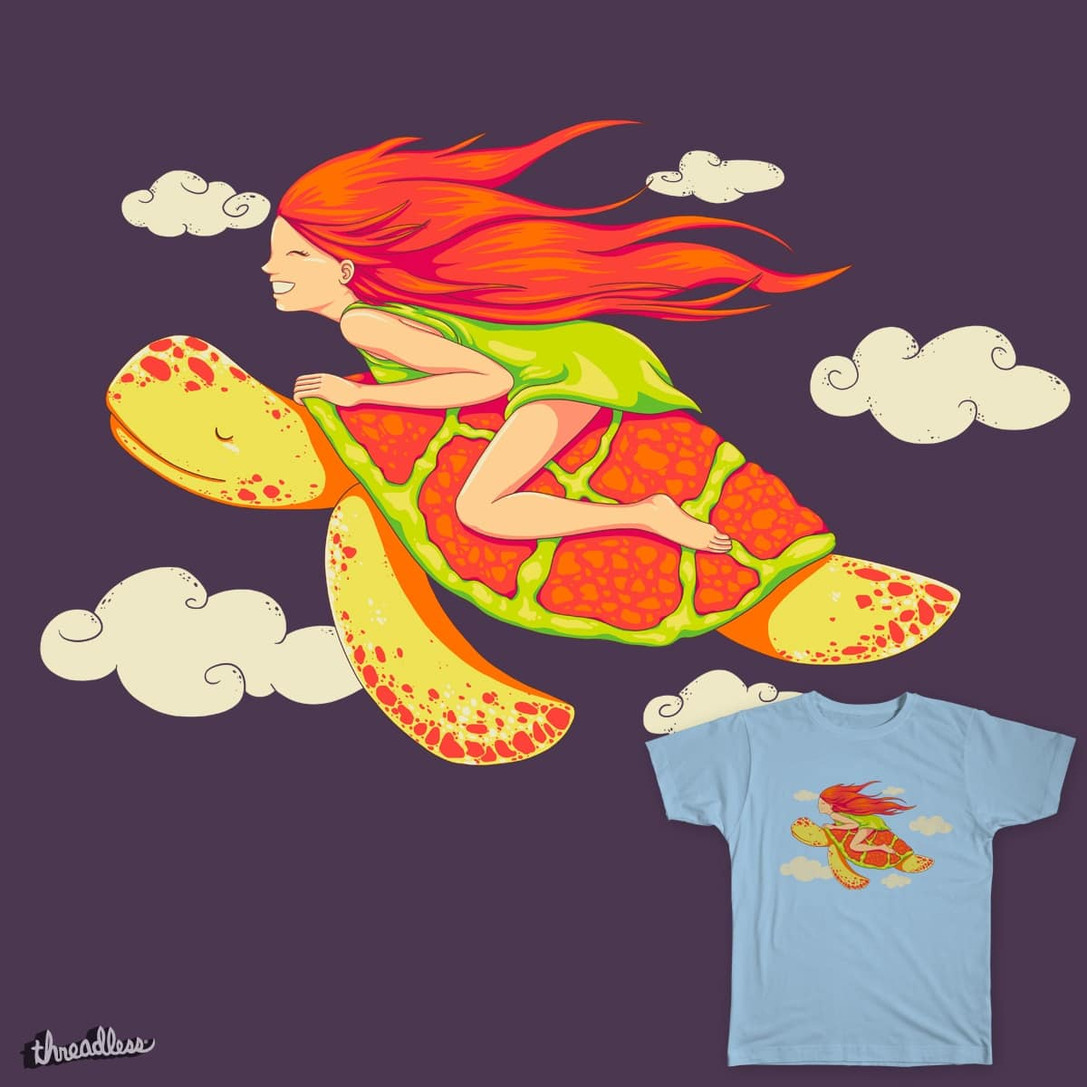 The Girl and the Turtle by spookylili on Threadless