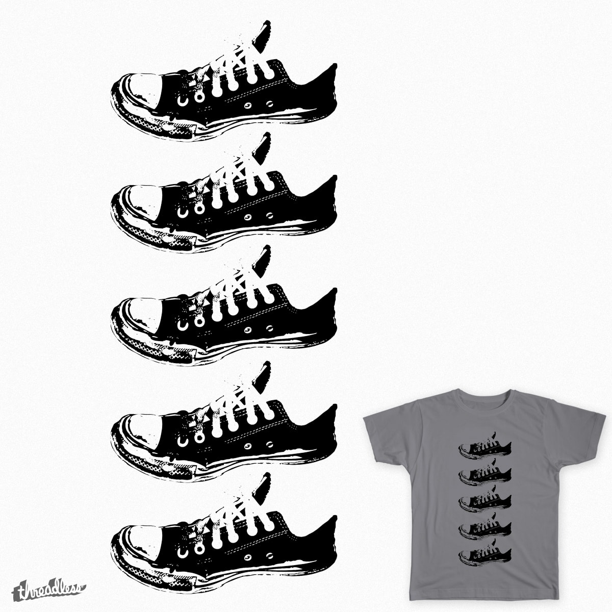 Dirty Chucks by taytaydowns on Threadless