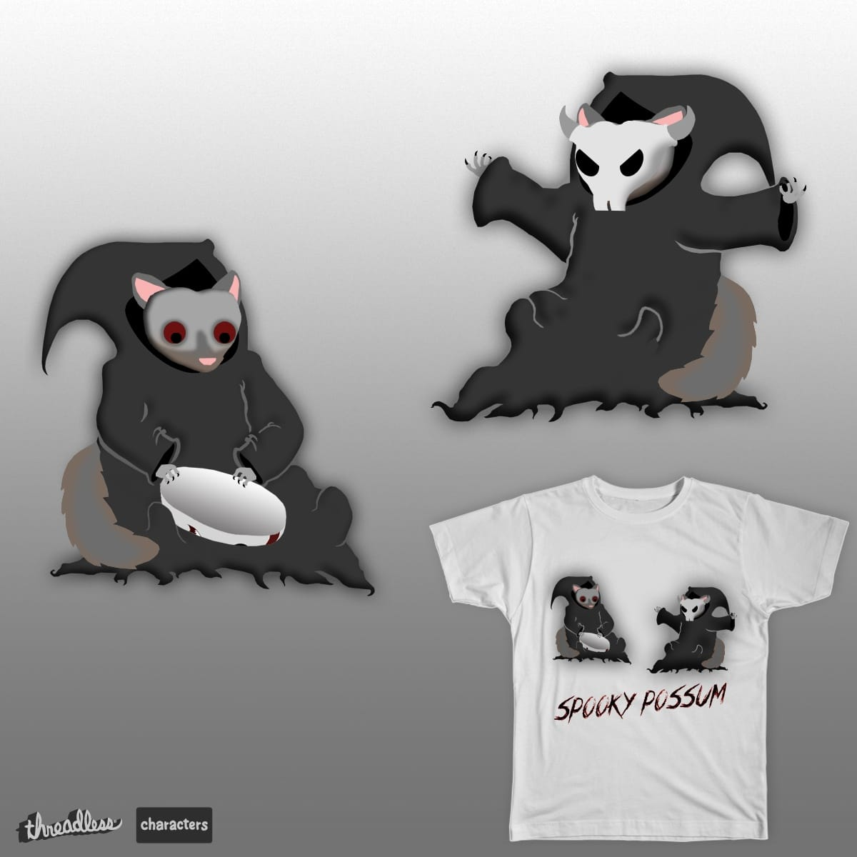 Spooky Possum by meteoric on Threadless