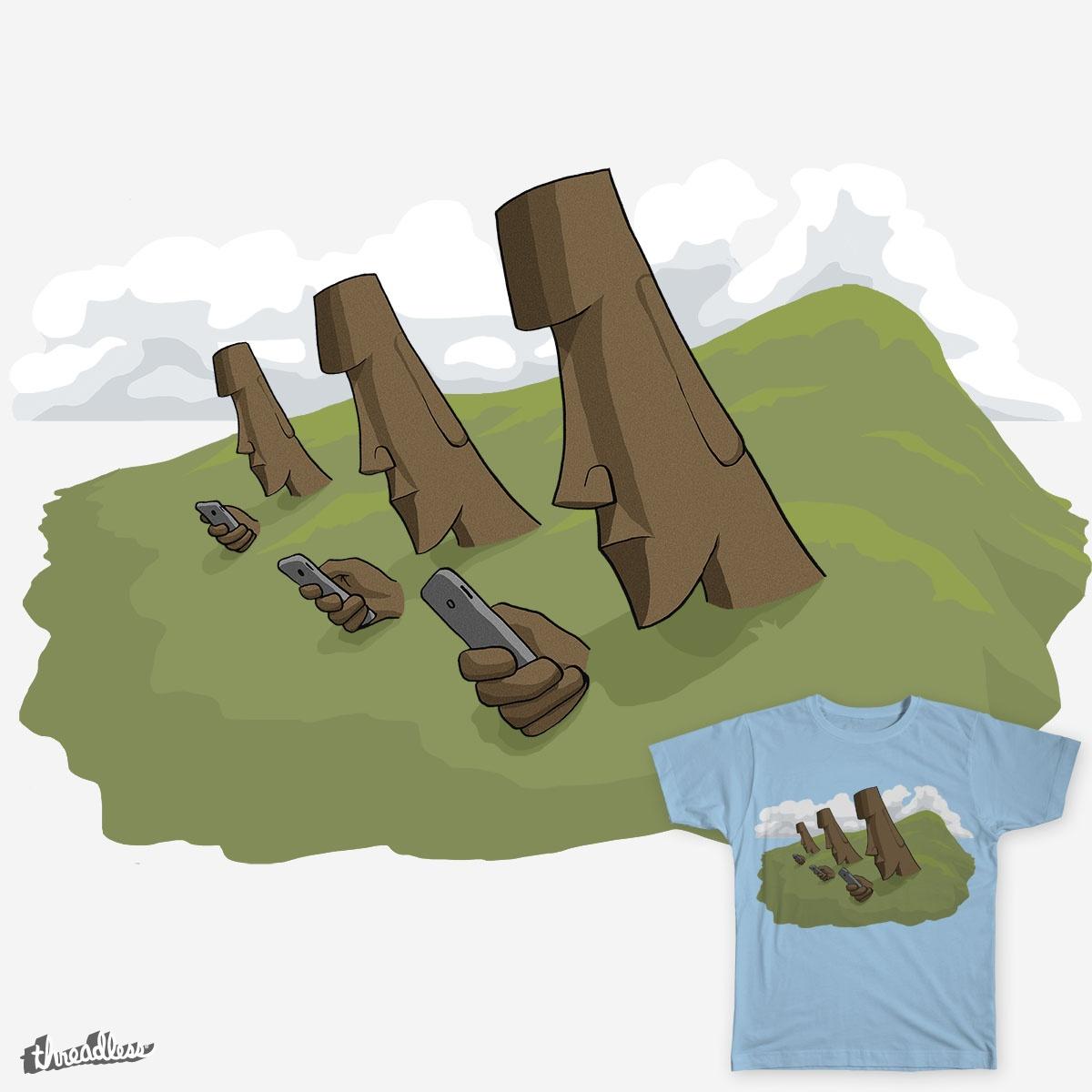 Moai on Mobiles by thegnome54 on Threadless