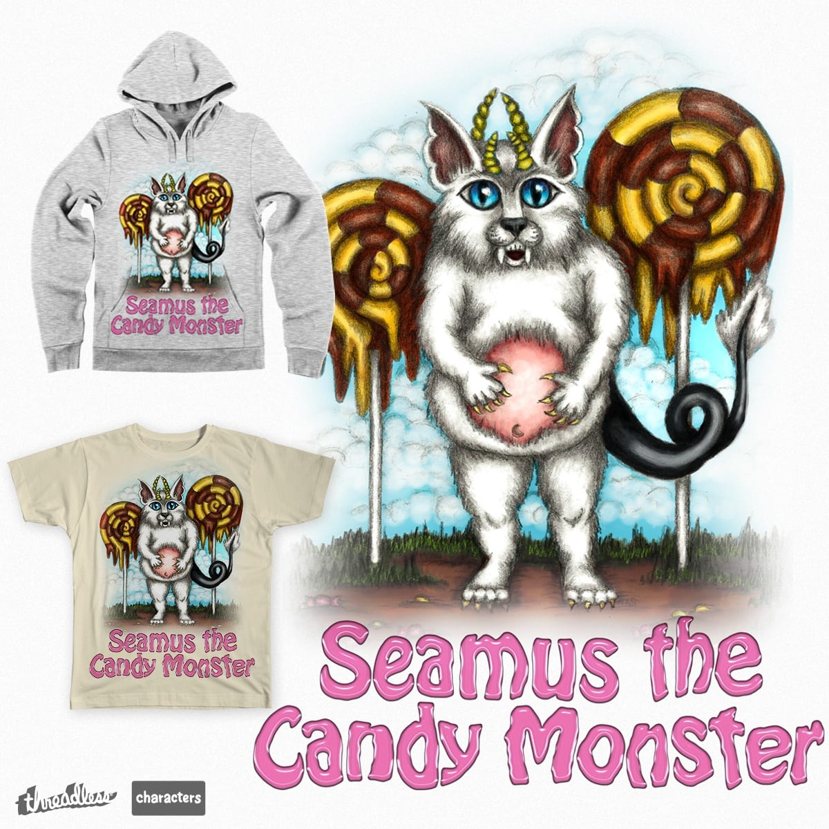 Seamus the Candy Monster by tasillustration on Threadless