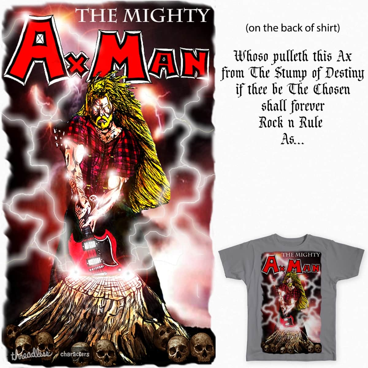 The Mighty Ax Man by CaptainCookieDough on Threadless