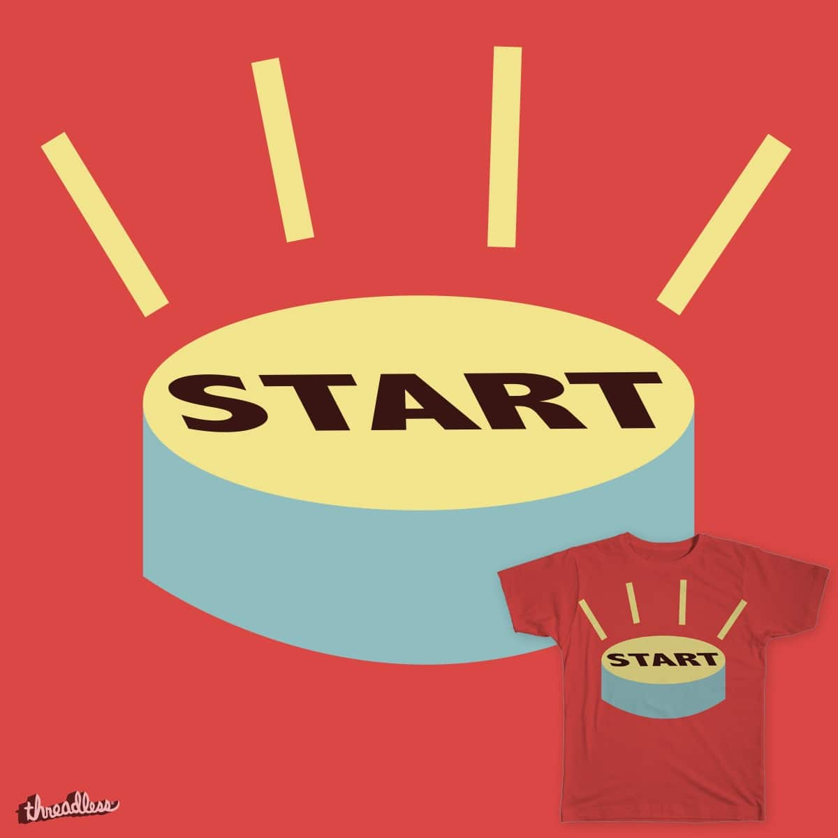 Start Button! by may.shochat on Threadless