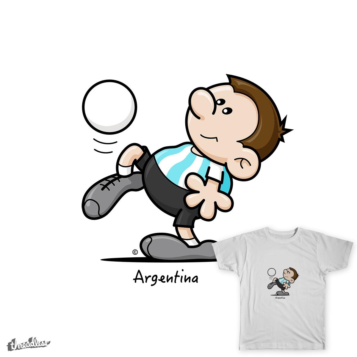 2014 World Cup Cartoons - Argentina by spaghettiarts on Threadless