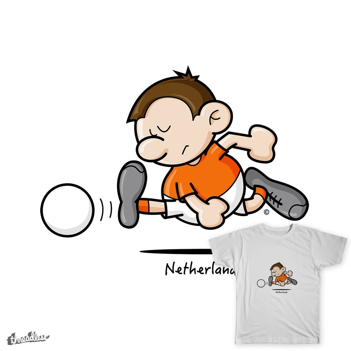 2014 World Cup Cartoons - Netherlands by spaghettiarts on Threadless
