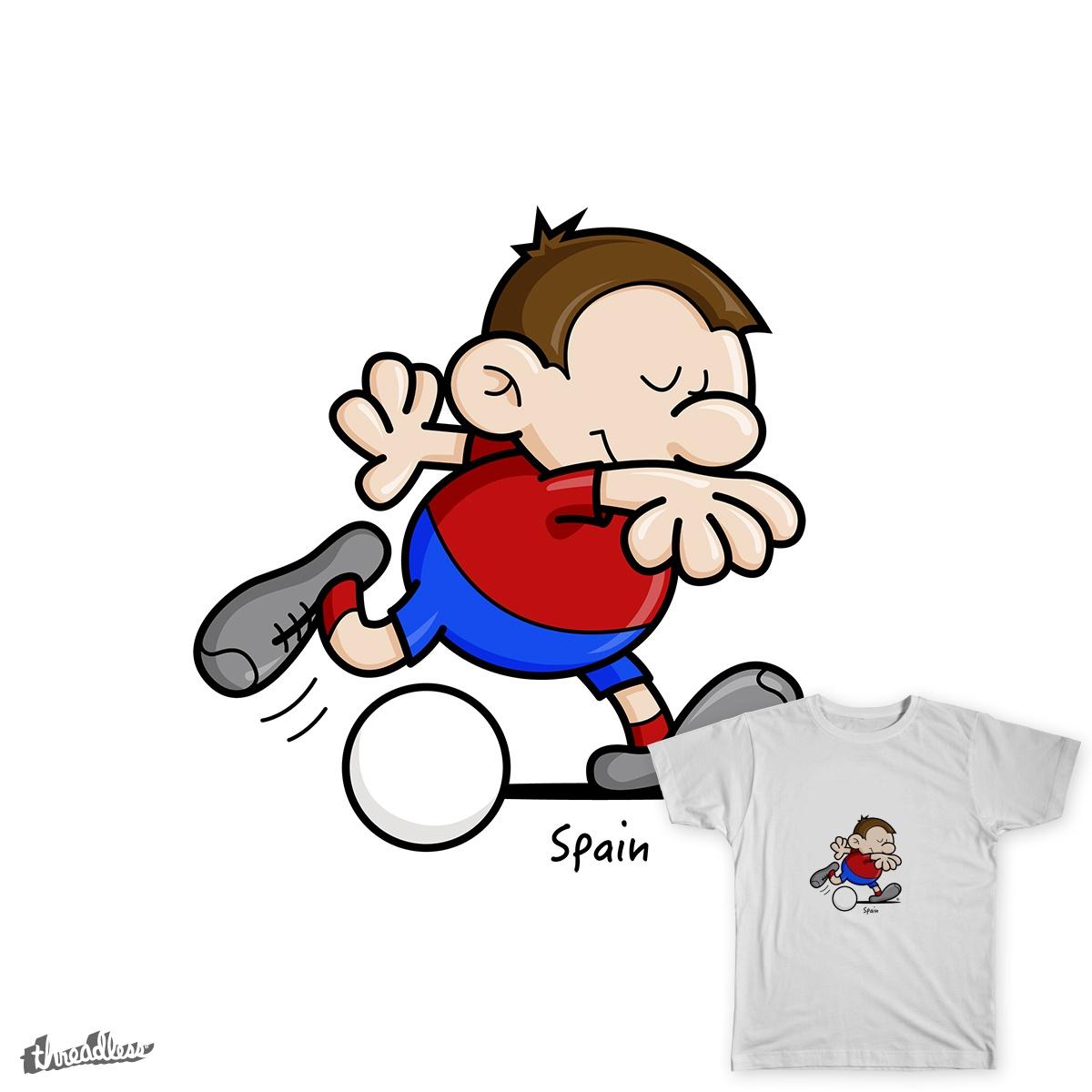 2014 World Cup Cartoons - Spain by spaghettiarts on Threadless