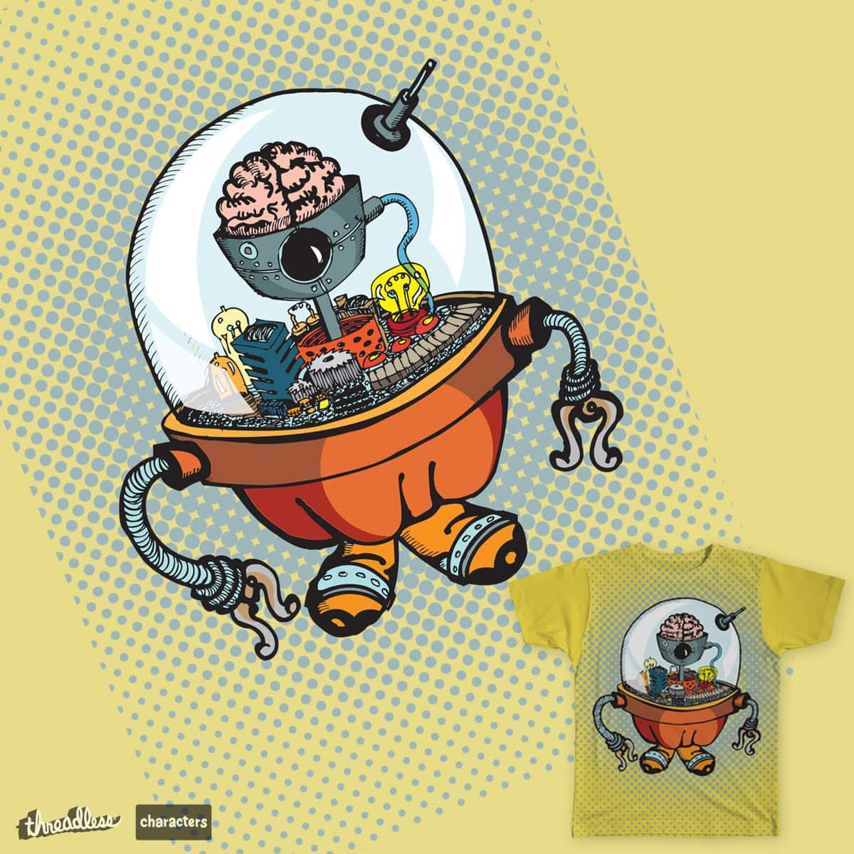 GooglyBot by SixtoMarcelo on Threadless