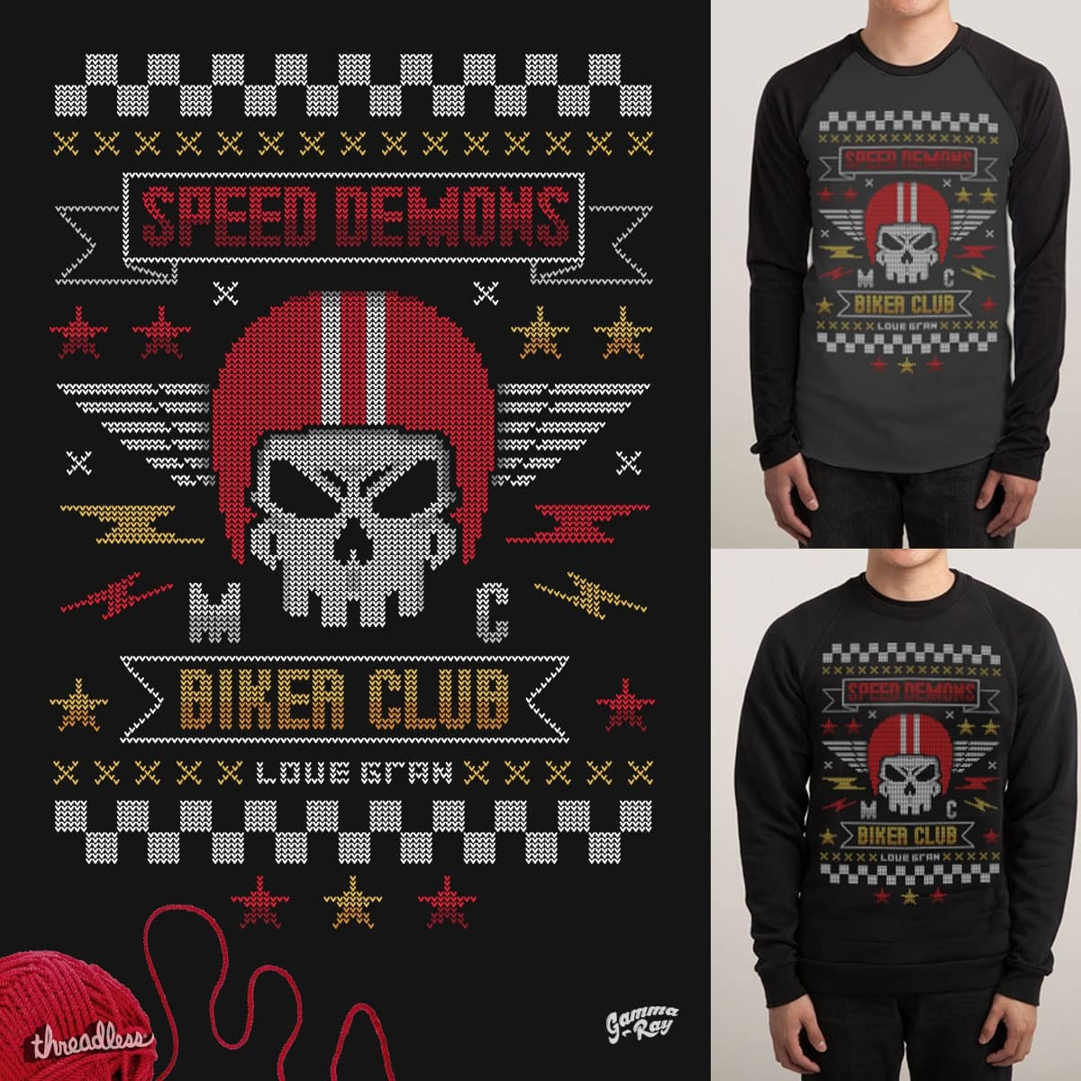 Gran Knitted For the Biker Gang by Gamma-Ray on Threadless