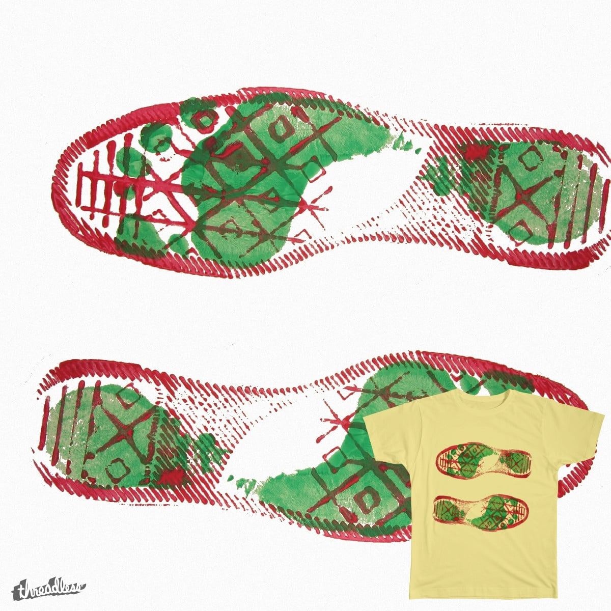 Foot-Shoe-Prints by TheBibliothekar on Threadless