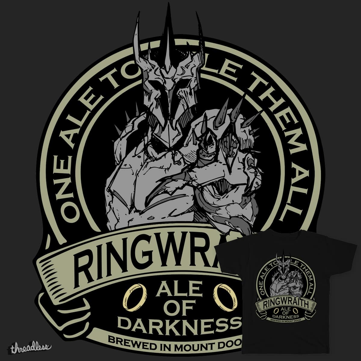 Ringwraith - Ale Of Darkness by Immortalized on Threadless