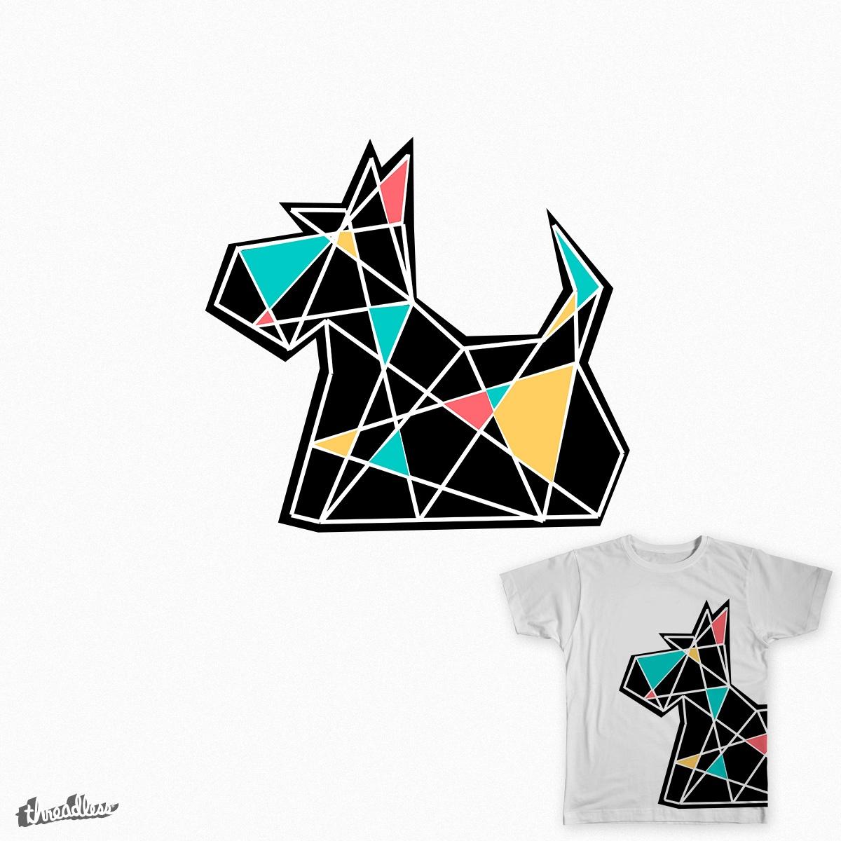 Geometric Scottie by tanjadear on Threadless
