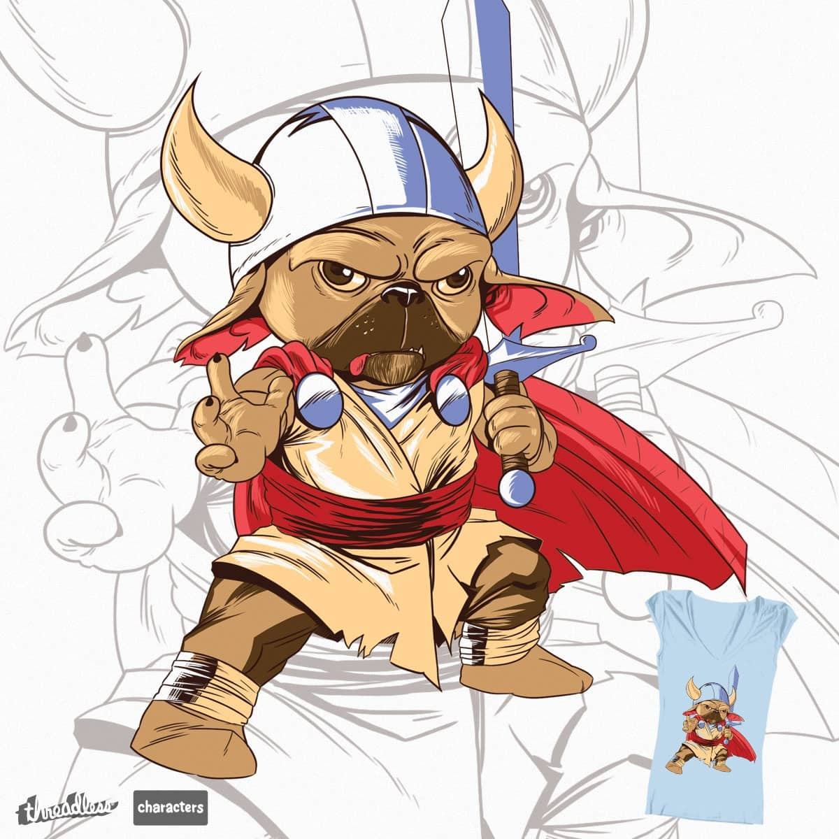 El Doguillo Vikingo by foursixsix on Threadless