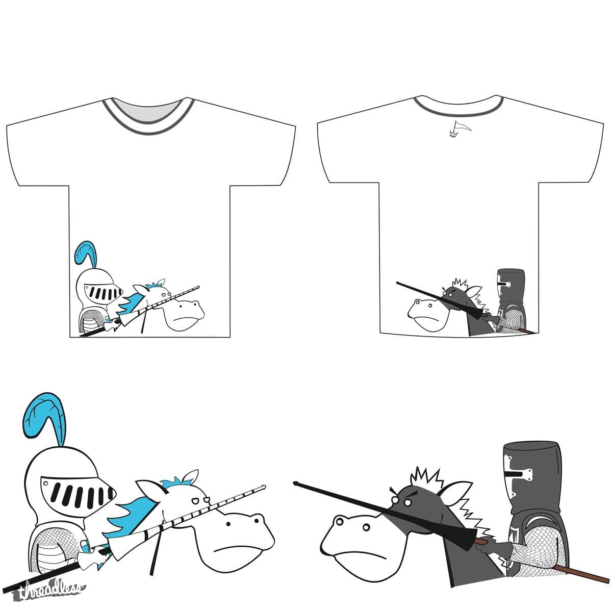 Joust take a look at this: by dominate15 on Threadless