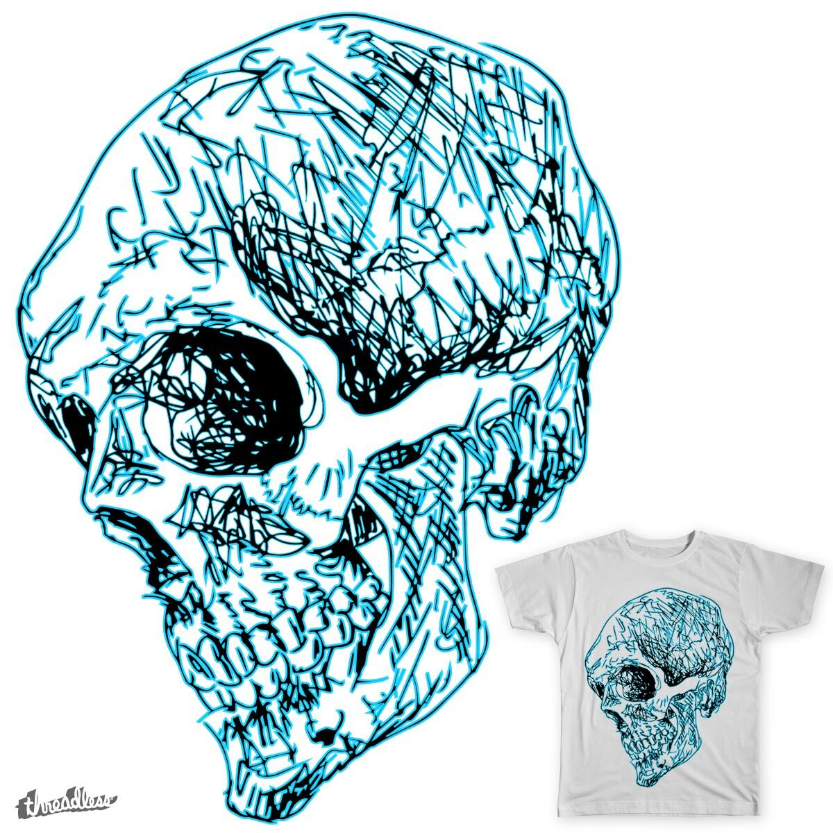 Scribbly Cranium by bartbag on Threadless