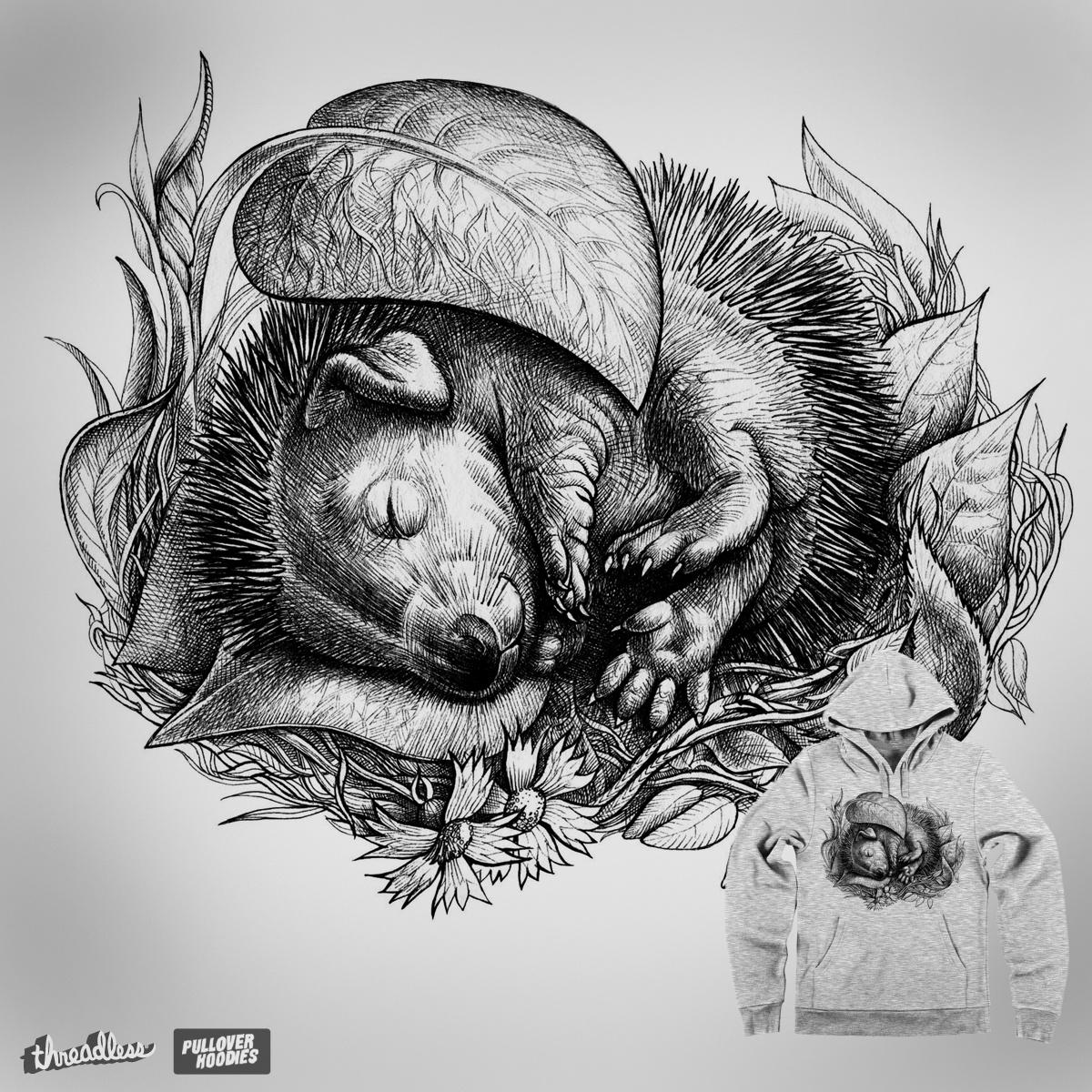 Baby hedgehog. by Elina_Ch on Threadless